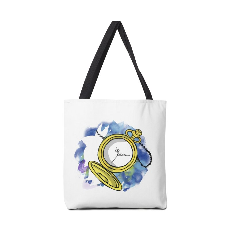 White rabbit time Accessories Bag by Colmena Ink's Shop