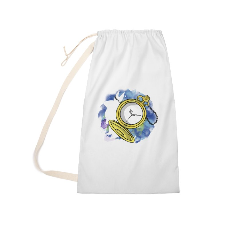 White rabbit time Accessories Laundry Bag Bag by Colmena Ink's Shop