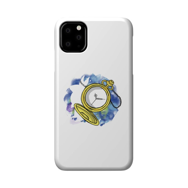 White rabbit time Accessories Phone Case by Colmena Ink's Shop