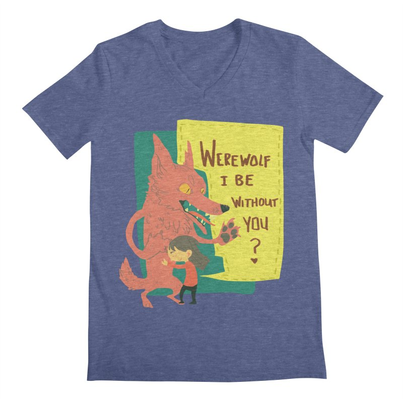 Werewolf I Be Without You Men's V-Neck by coloradventure's Artist Shop