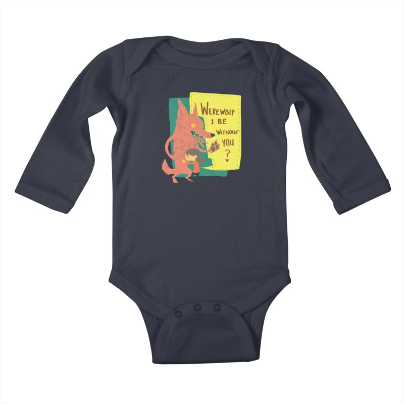 Werewolf I Be Without You Kids Baby Longsleeve Bodysuit by coloradventure's Artist Shop