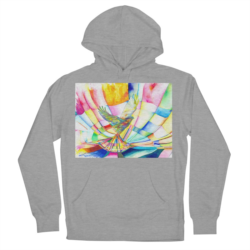 I Am Slumber-Catcher, the Hawk Women's French Terry Pullover Hoody by Colour Wave Art SHOP
