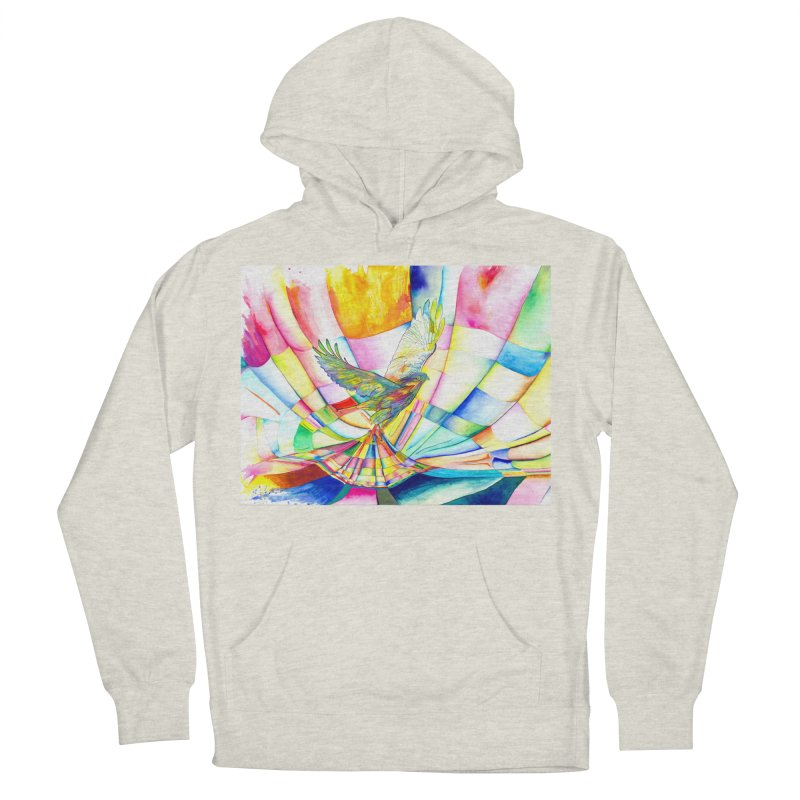I Am Slumber-Catcher, the Hawk Women's French Terry Pullover Hoody by Matteo Sica Colour Wave Art