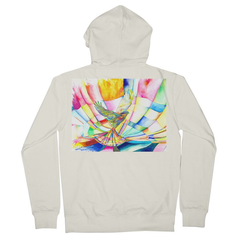 I Am Slumber-Catcher, the Hawk Women's French Terry Zip-Up Hoody by Colour Wave Art SHOP