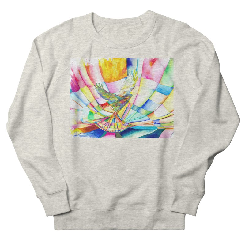 I Am Slumber-Catcher, the Hawk Women's French Terry Sweatshirt by Matteo Sica Colour Wave Art