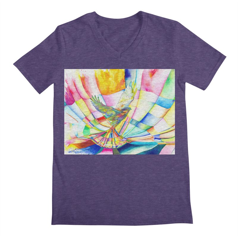 I Am Slumber-Catcher, the Hawk Men's V-Neck by Colour Wave Art SHOP