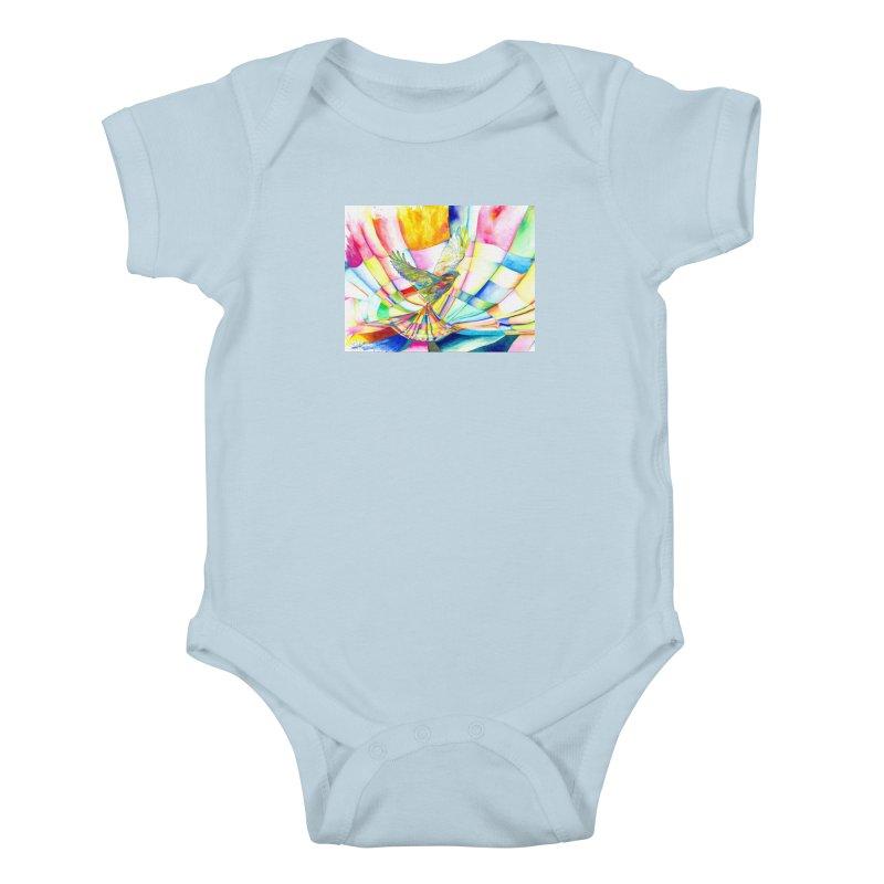 I Am Slumber-Catcher, the Hawk Kids Baby Bodysuit by Colour Wave Art SHOP