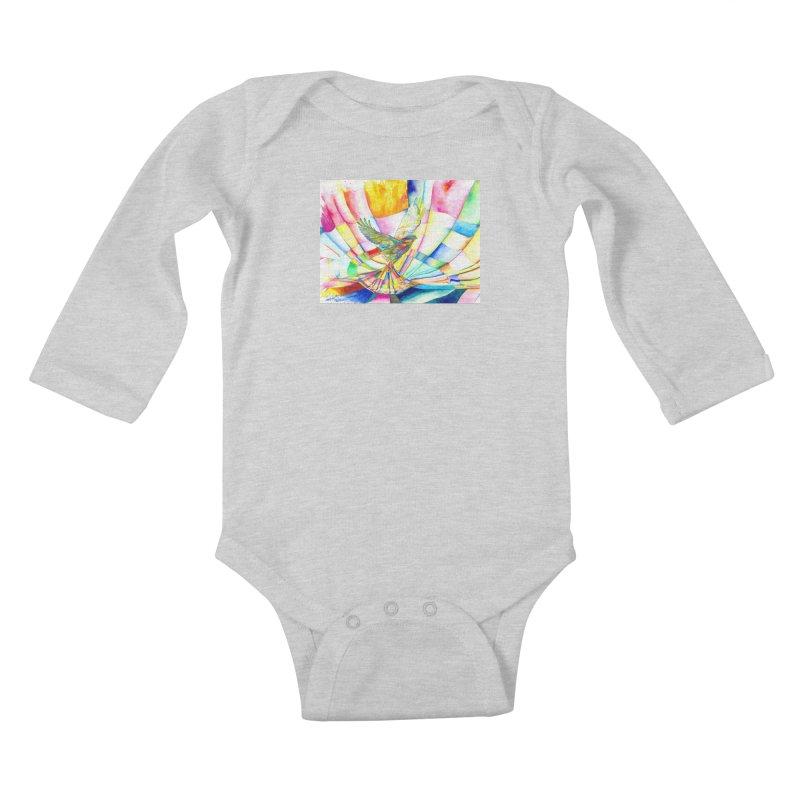 I Am Slumber-Catcher, the Hawk Kids Baby Longsleeve Bodysuit by Colour Wave Art SHOP
