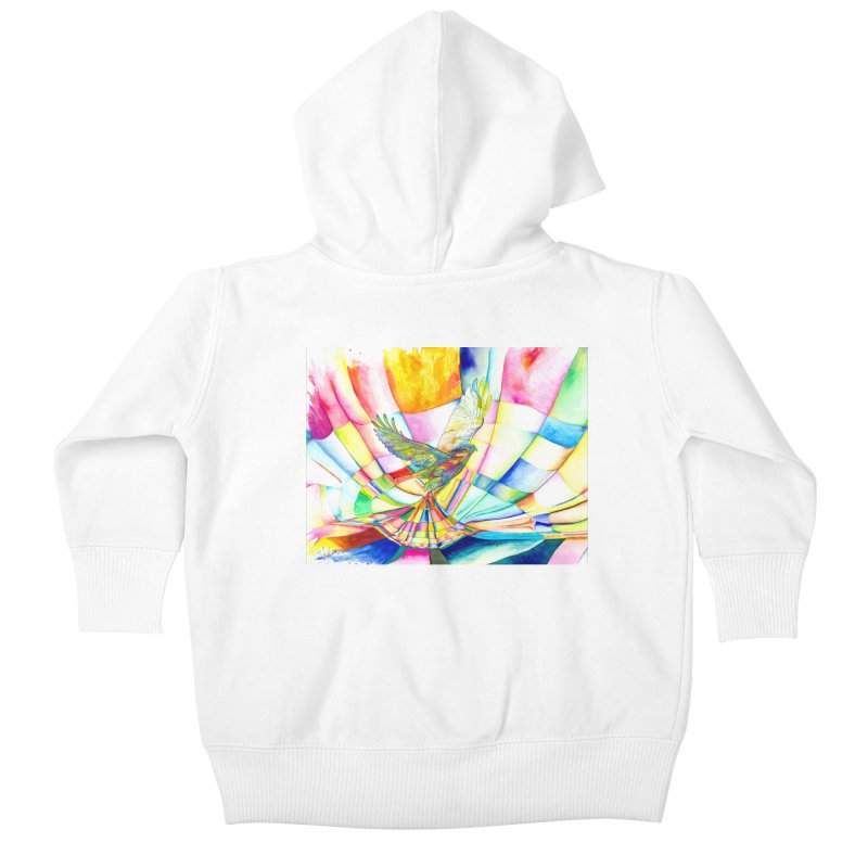 I Am Slumber-Catcher, the Hawk Kids Baby Zip-Up Hoody by Colour Wave Art SHOP