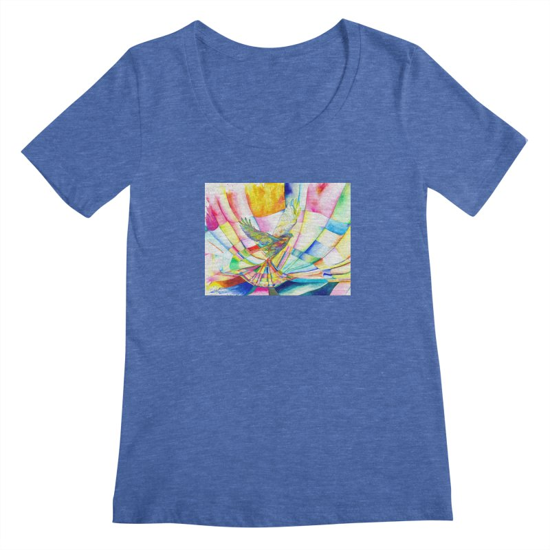 I Am Slumber-Catcher, the Hawk Women's Scoopneck by Colour Wave Art SHOP
