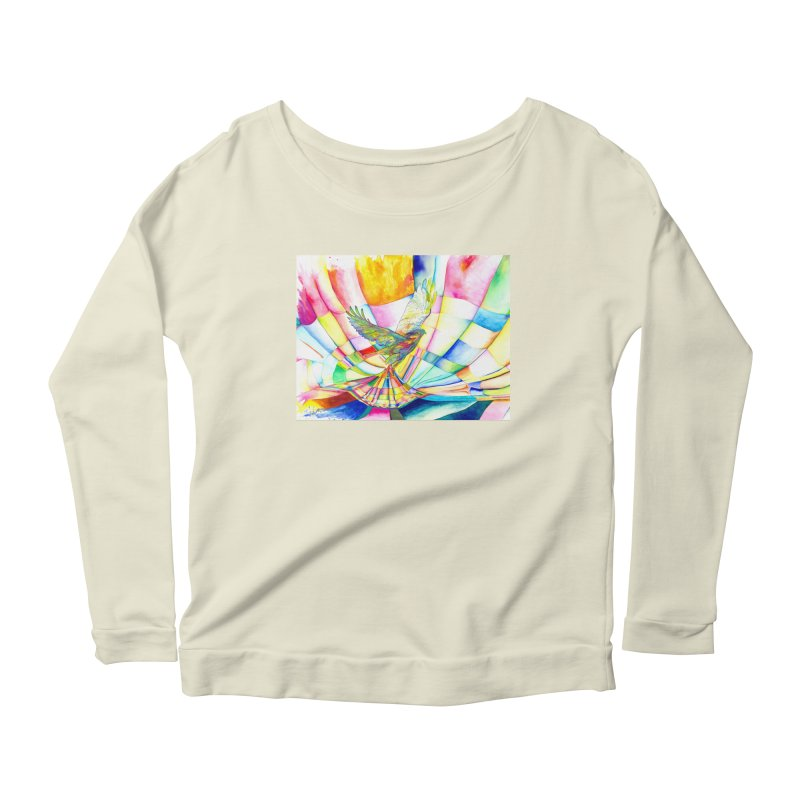 I Am Slumber-Catcher, the Hawk Women's Longsleeve Scoopneck  by Colour Wave Art SHOP