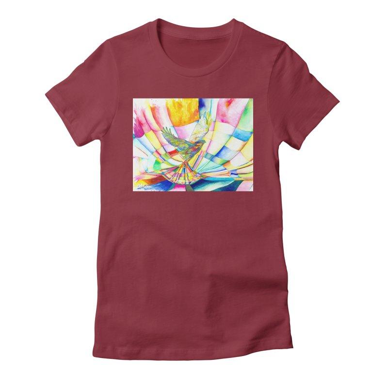 I Am Slumber-Catcher, the Hawk Women's Fitted T-Shirt by Colour Wave Art SHOP