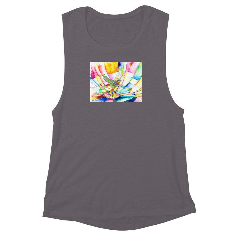 I Am Slumber-Catcher, the Hawk Women's Muscle Tank by Colour Wave Art SHOP