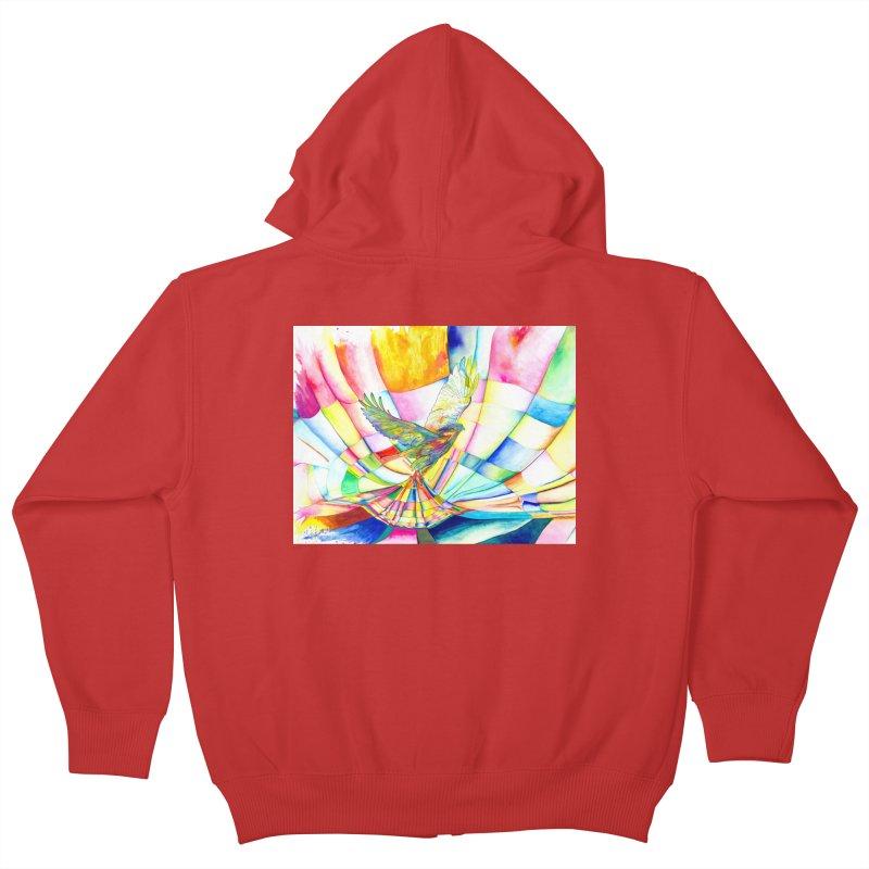 I Am Slumber-Catcher, the Hawk Kids Zip-Up Hoody by Colour Wave Art SHOP