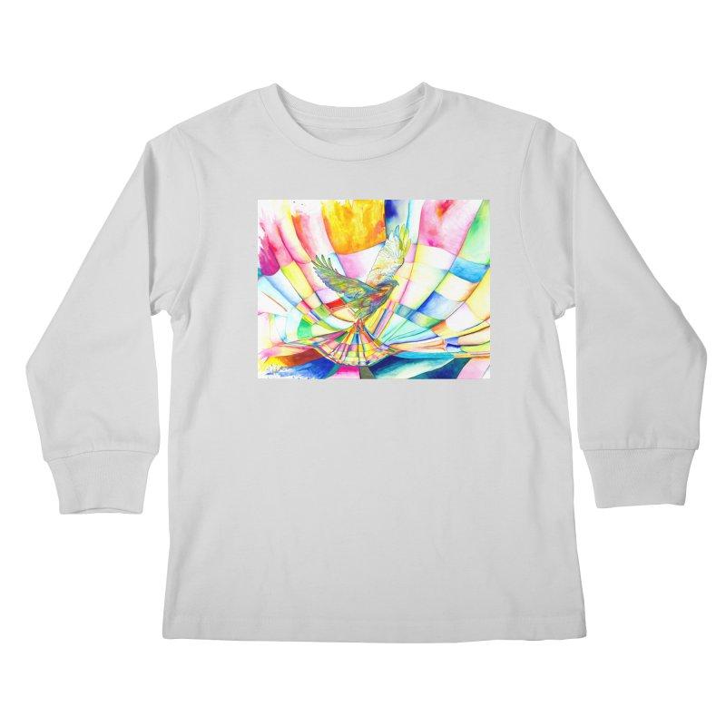 I Am Slumber-Catcher, the Hawk Kids Longsleeve T-Shirt by Colour Wave Art SHOP