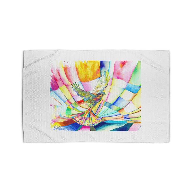I Am Slumber-Catcher, the Hawk Home Rug by Colour Wave Art SHOP