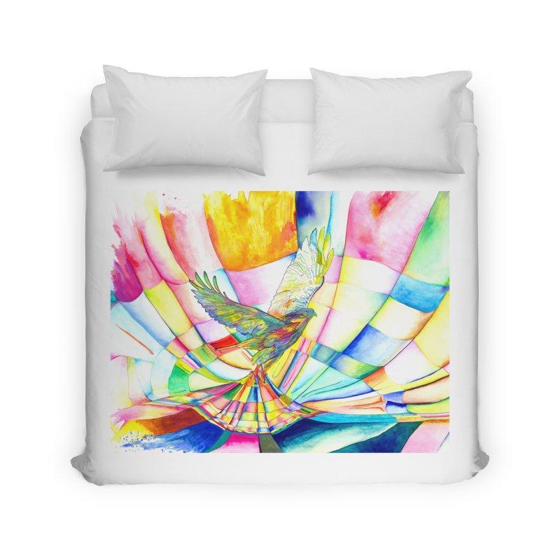 I Am Slumber-Catcher, the Hawk Home Duvet by Colour Wave Art SHOP