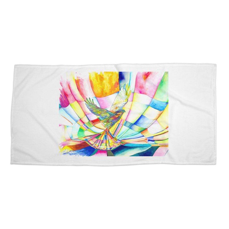 I Am Slumber-Catcher, the Hawk Accessories Beach Towel by Colour Wave Art SHOP