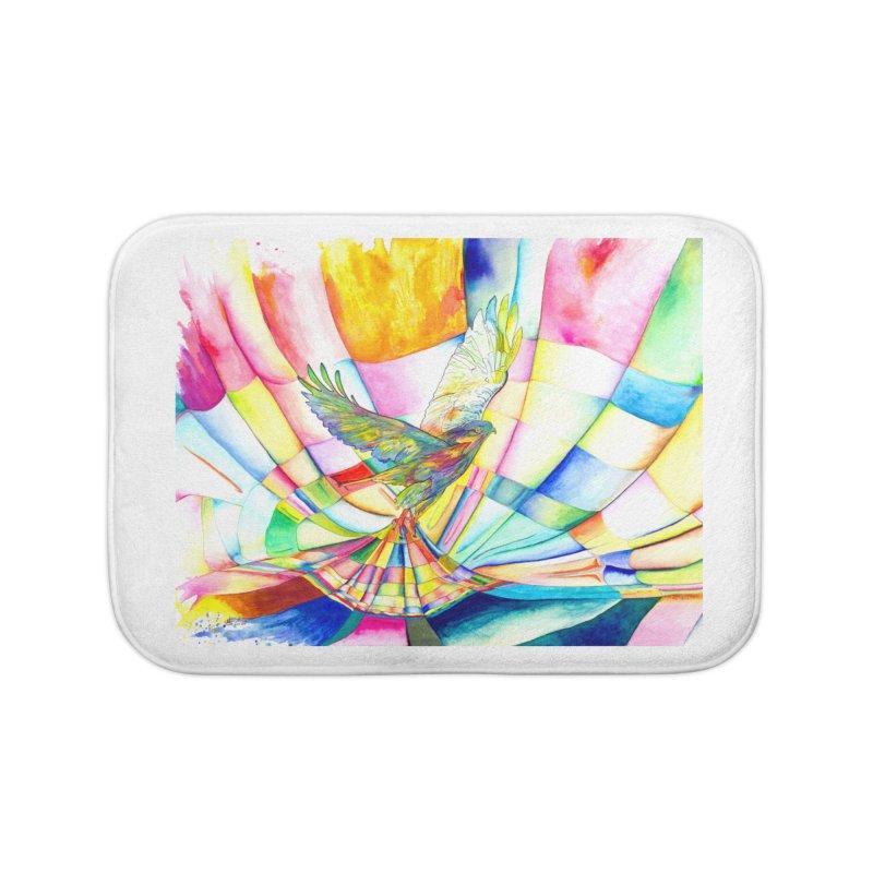 I Am Slumber-Catcher, the Hawk Home Bath Mat by Colour Wave Art SHOP