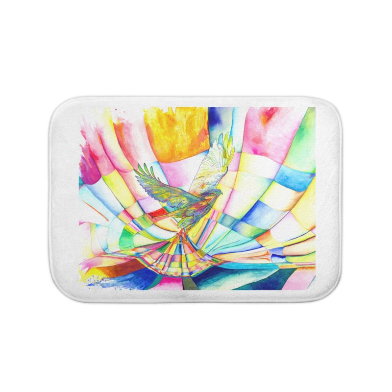 I Am Slumber-Catcher, the Hawk Home Bath Mat by Matteo Sica Colour Wave Art