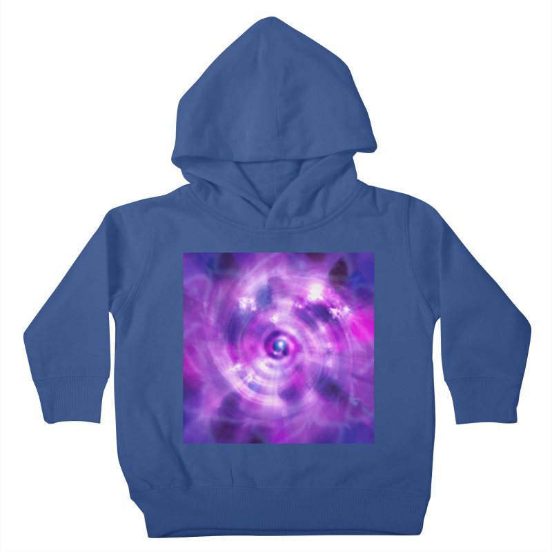 Ultraviolet Sahasrara (Pantone Colour of the Year 2018) Kids Toddler Pullover Hoody by Colour Wave Art SHOP