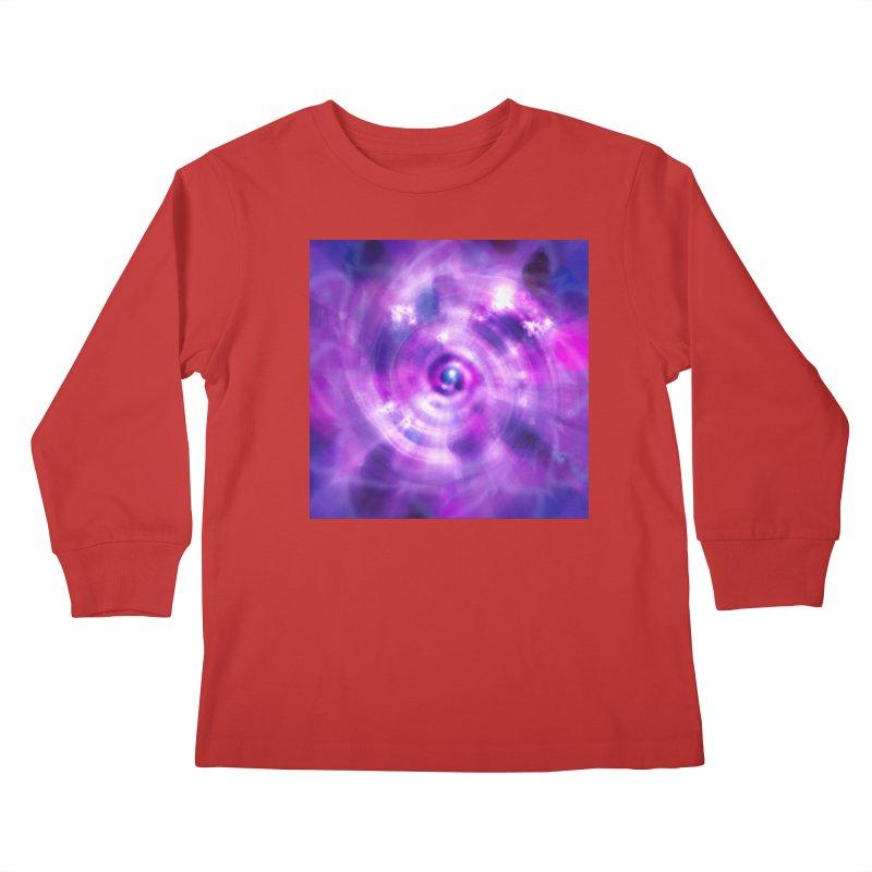 Ultraviolet Sahasrara (Pantone Colour of the Year 2018) Kids Longsleeve T-Shirt by Colour Wave Art SHOP