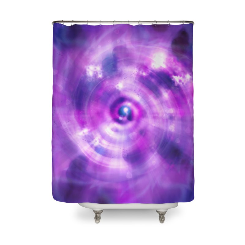 Ultraviolet Sahasrara (Pantone Colour of the Year 2018) Home Shower Curtain by Colour Wave Art SHOP
