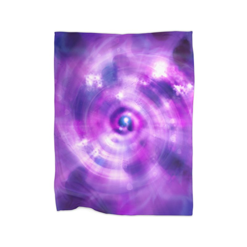 Ultraviolet Sahasrara (Pantone Colour of the Year 2018) Home Blanket by Colour Wave Art SHOP