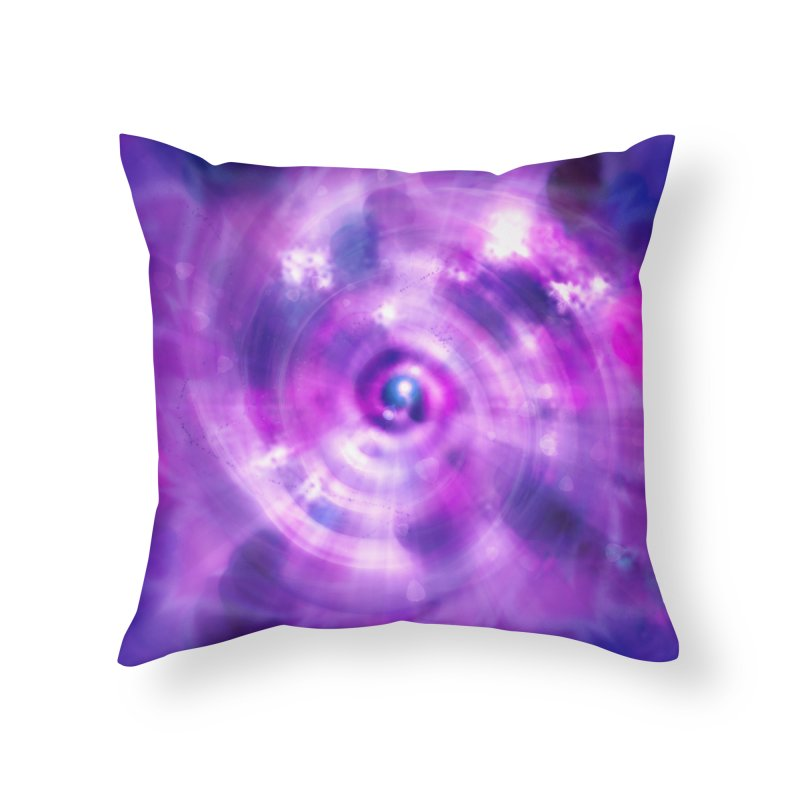 Ultraviolet Sahasrara (Pantone Colour of the Year 2018) Home Throw Pillow by Colour Wave Art SHOP