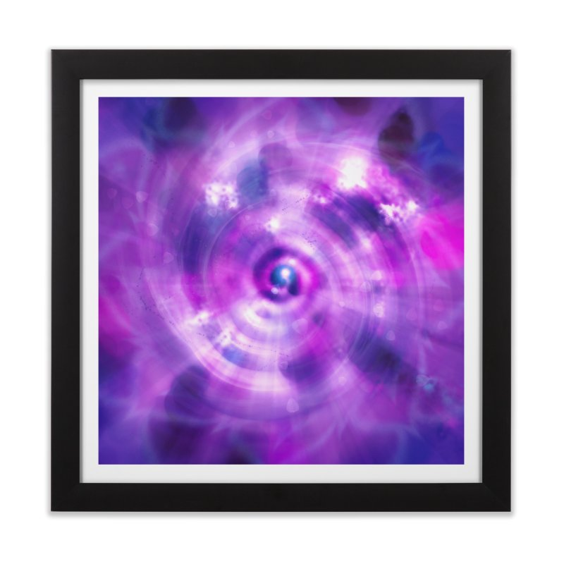 Ultraviolet Sahasrara (Pantone Colour of the Year 2018) Home Framed Fine Art Print by Colour Wave Art SHOP