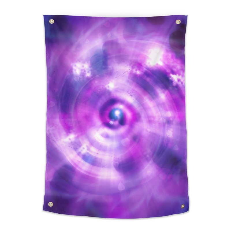 Ultraviolet Sahasrara (Pantone Colour of the Year 2018) Home Tapestry by Colour Wave Art SHOP