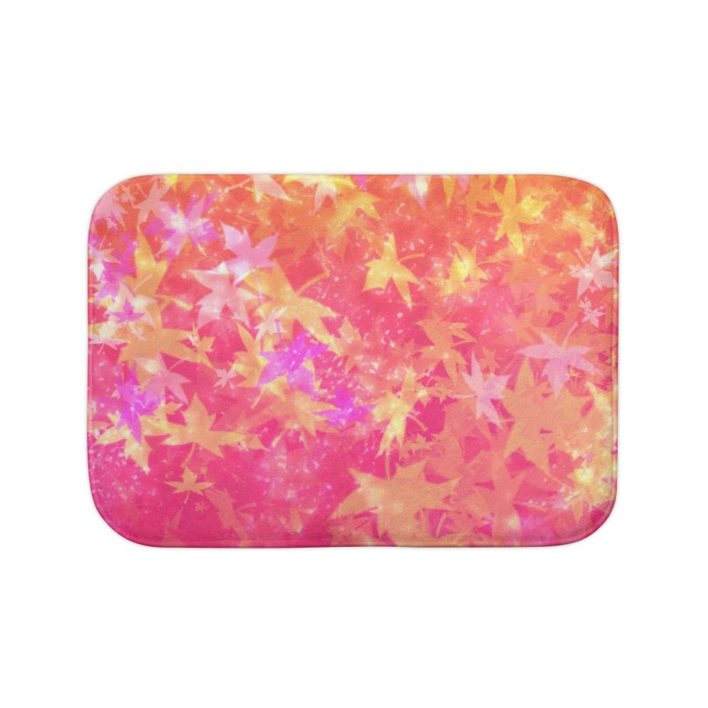 Glowingly Natural Home Bath Mat by Matteo Sica Colour Wave Art