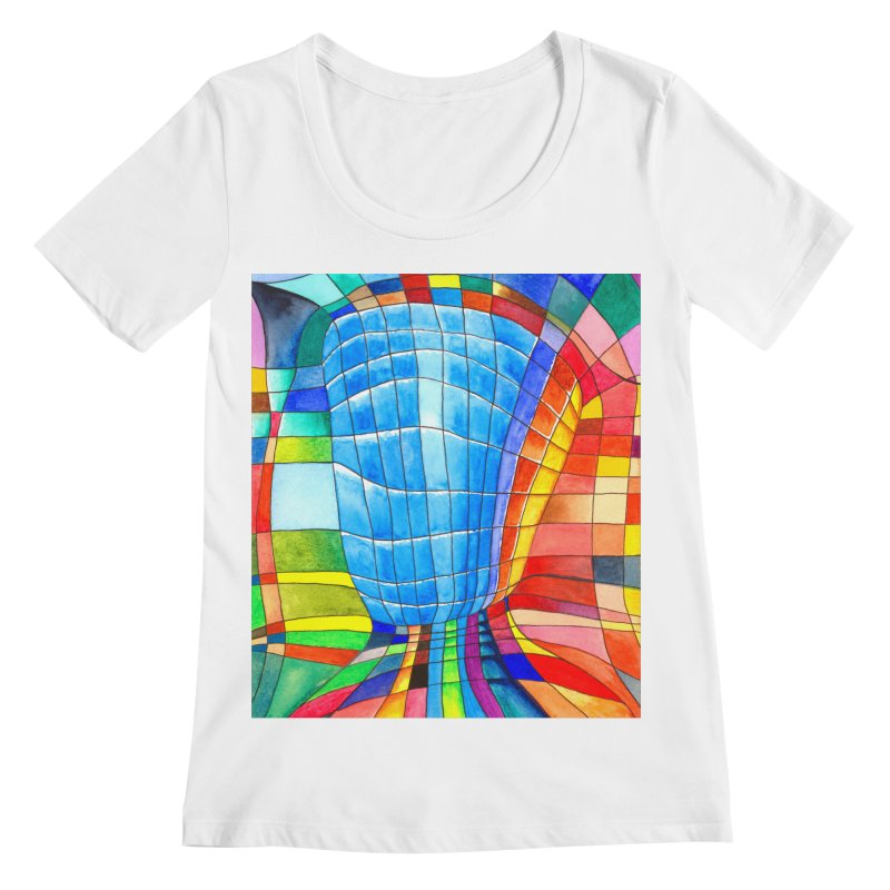 I'd like to go out with you(tube). Would you like to go out with me(ssenger)? Women's Scoopneck by Colour Wave Art SHOP