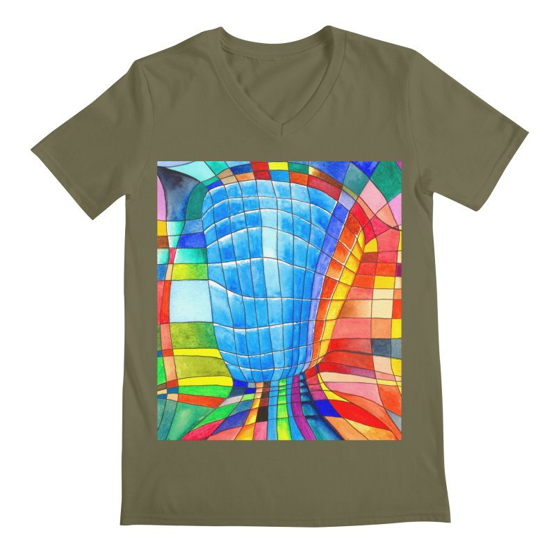 I'd like to go out with you(tube). Would you like to go out with me(ssenger)? Men's V-Neck by Colour Wave Art SHOP