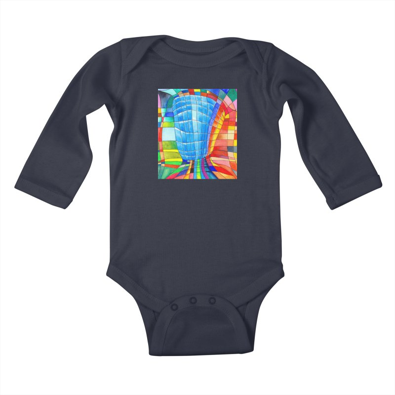 I'd like to go out with you(tube). Would you like to go out with me(ssenger)? Kids Baby Longsleeve Bodysuit by Colour Wave Art SHOP