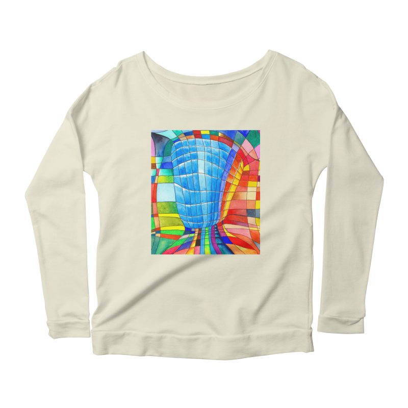 I'd like to go out with you(tube). Would you like to go out with me(ssenger)? Women's Longsleeve Scoopneck  by Colour Wave Art SHOP