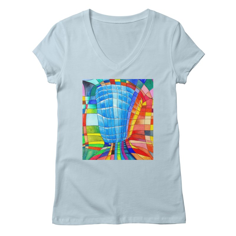 I'd like to go out with you(tube). Would you like to go out with me(ssenger)? Women's V-Neck by Colour Wave Art SHOP