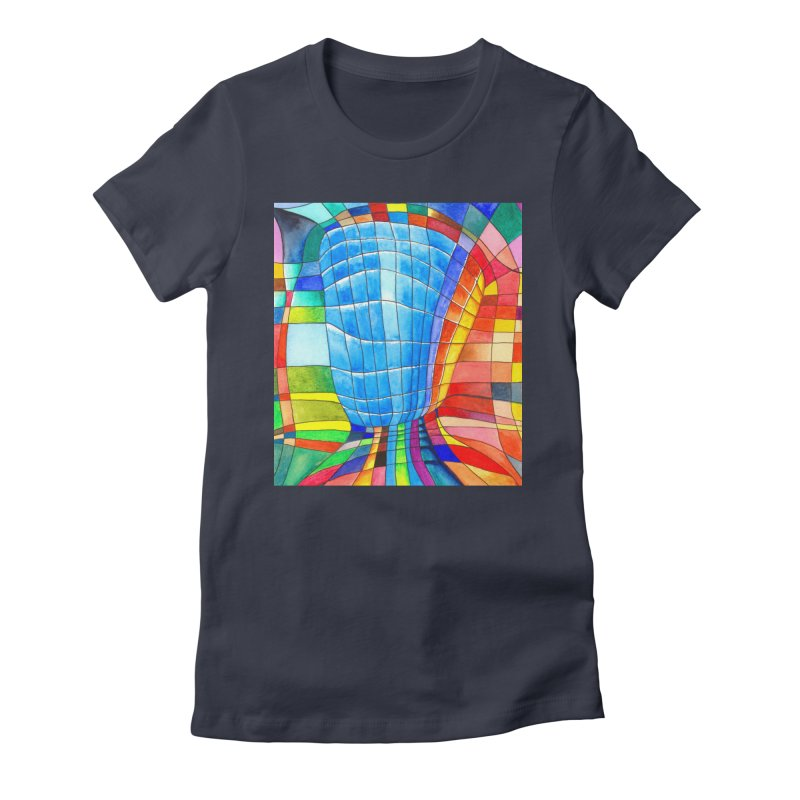 I'd like to go out with you(tube). Would you like to go out with me(ssenger)? Women's Fitted T-Shirt by Colour Wave Art SHOP