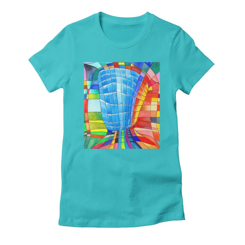 I'd like to go out with you(tube). Would you like to go out with me(ssenger)? Women's Fitted T-Shirt by colourwaveart's Artist Shop