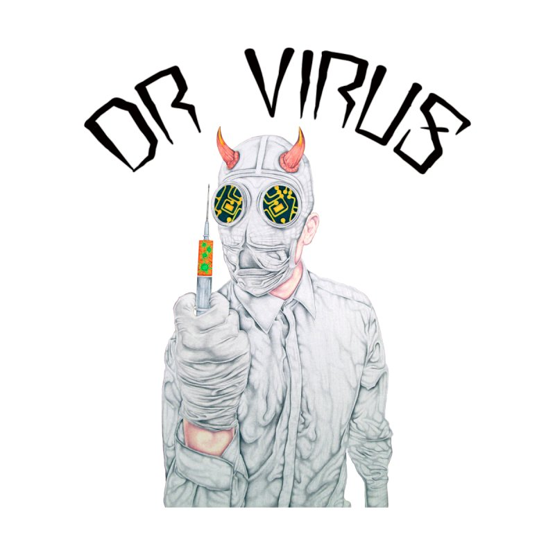 Dr Virus T-Shirt Men's T-Shirt by Coma Free Urban Art & Design
