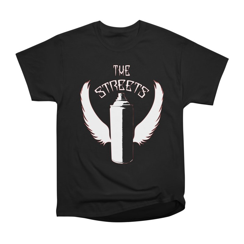 The Streets Graffiti T-Shirt Women's Heavyweight Unisex T-Shirt by Coma Free Urban Art & Design