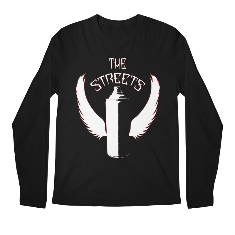 The Streets Graffiti T-Shirt Men's Longsleeve T-Shirt by Coma Free Urban Art & Design
