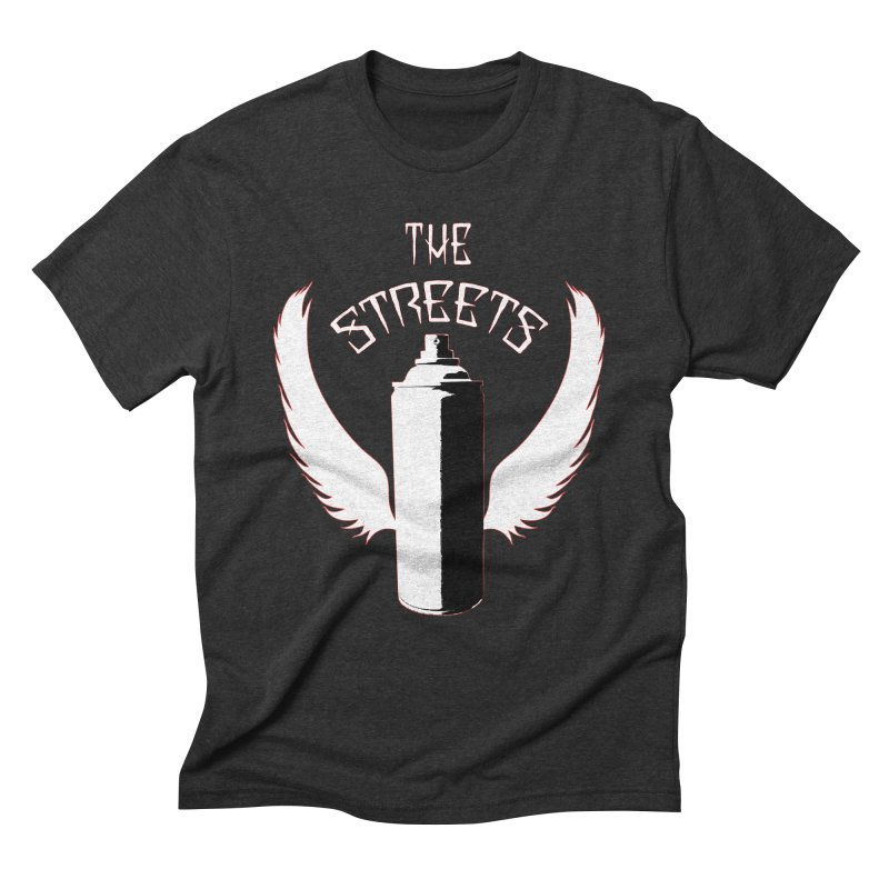 The Streets Graffiti T-Shirt Men's Triblend T-Shirt by Coma Free Urban Art & Design