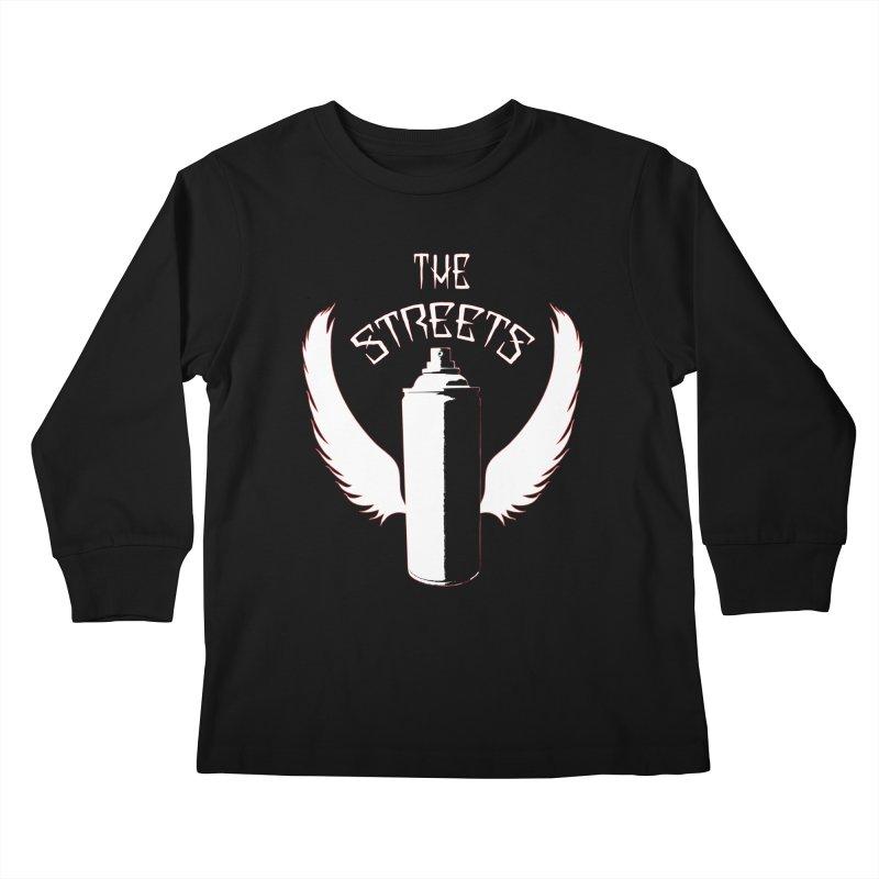 The Streets Graffiti T-Shirt Kids Longsleeve T-Shirt by Coma Free Urban Art & Design
