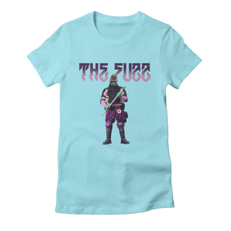 The Fuzz Gorilla T-Shirt Women's Fitted T-Shirt by Coma Free Urban Art & Design
