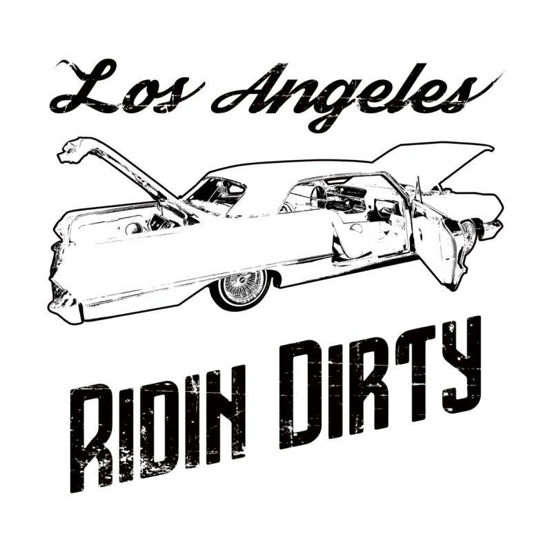 Ridin Dirty Los Angeles Lowrider T-Shirt Men's T-Shirt by Coma Free Urban Art & Design