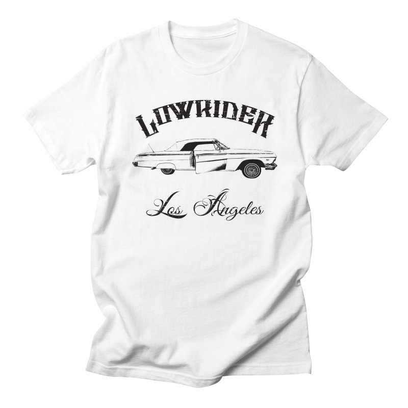 Lowrider Los Angeles T-Shirt in Men's Regular T-Shirt White by Coma Free Urban Art & Design