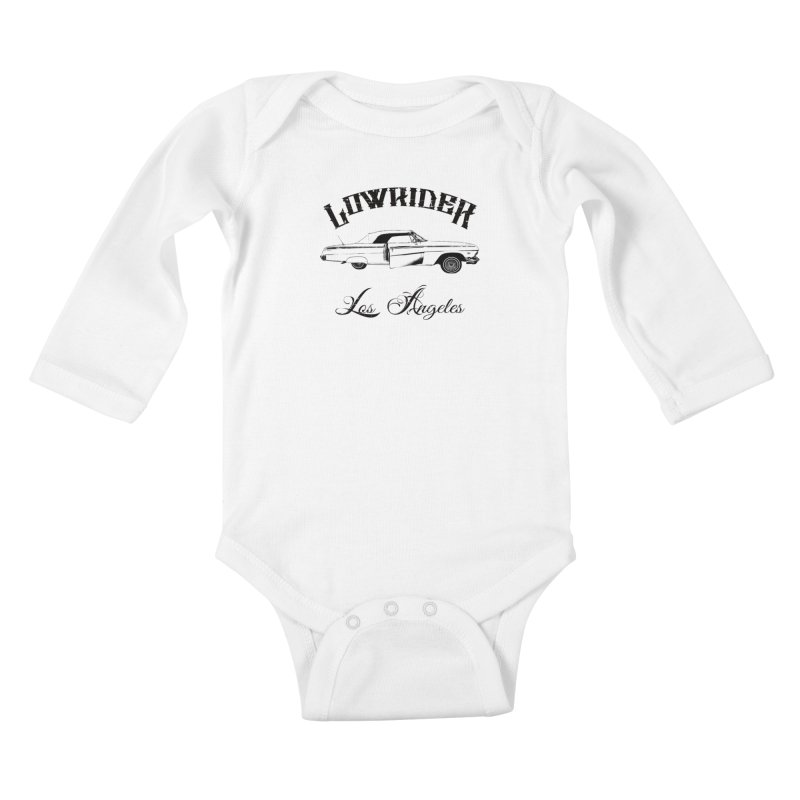 Lowrider Los Angeles T-Shirt Kids Baby Longsleeve Bodysuit by Coma Free Urban Art & Design