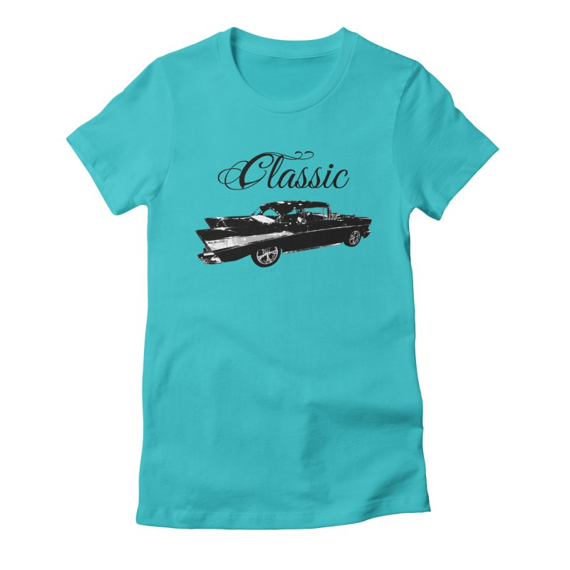 Classic 57 T-Shirt Women's Fitted T-Shirt by Coma Free Urban Art & Design