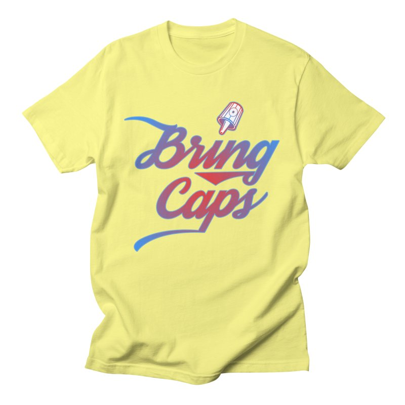 Red & Blue Gradient Bring Caps Graffiti Streetwear V2 Men's T-Shirt by Coma Free Urban Art & Design